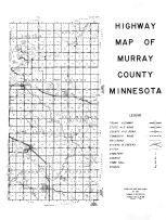Murray County Highway Map 2, Murray County 1961